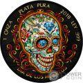 DIA DE LOS MUERTOS Tag der Toten Freiheit Libertad 1 Oz Silber Münze Mexico 2018