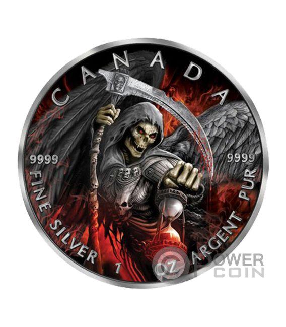 Grim Reaper Death Maple Leaf Armageddon Ii 1 Oz Silver