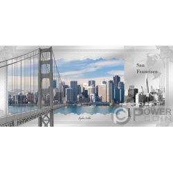 SAN FRANCISCO Skyline Dollars Folie Silber Note 1$ Cook Islands 2018
