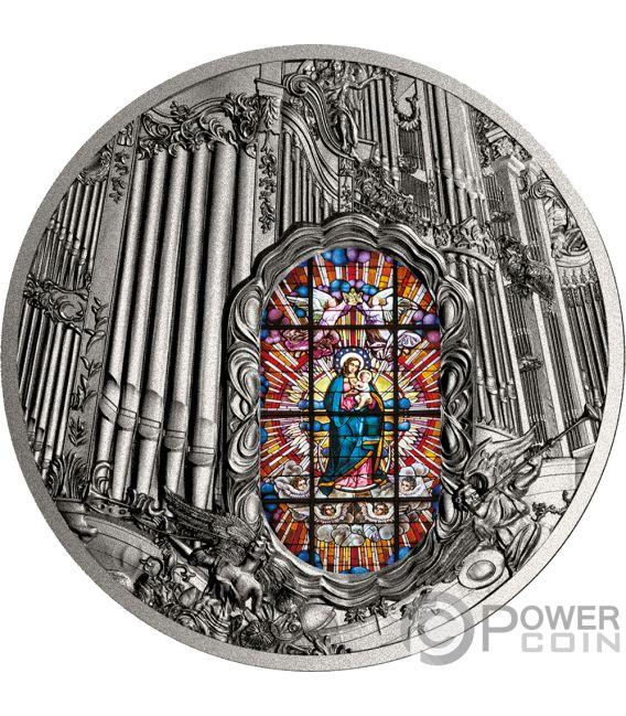 OLIWA ORGAN Archcathedral 2 Oz Silver Coin 2000 Francs Cameroon 2018