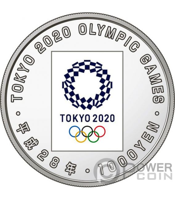 TOKYO OLYMPIC GAMES 2020 1 Oz Silver Coin 1000 Yen Japan 2016