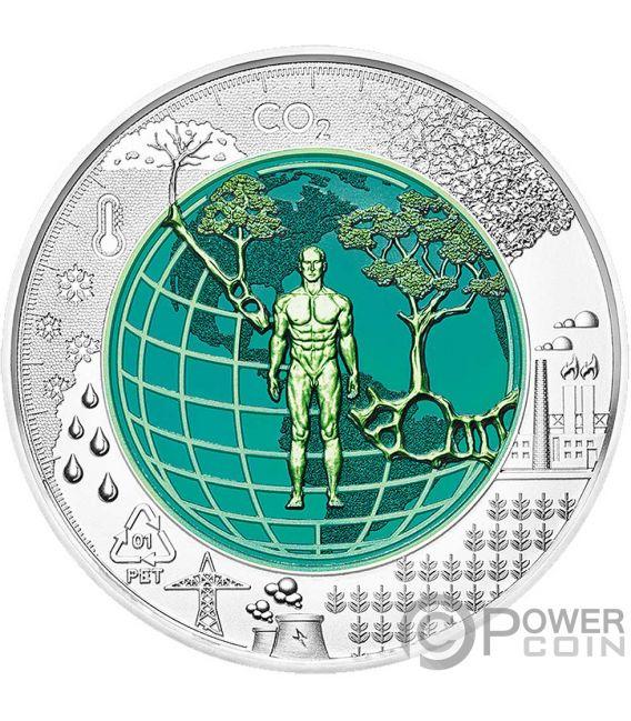 ANTHROPOCENE Anthropozän Niob Bimetallisch Silber Münze 25€ Euro Austria 2018