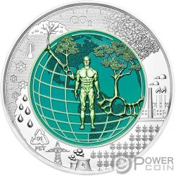 ANTHROPOCENE Antropoceno Niobio Niobium Bimetalico Moneda Plata 25€ Euro Austria 2018