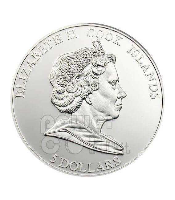 FERRARI F2008 Carbon Fiber Silver Coin 5$ Cook Islands 2009