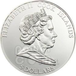 FERRARI F2008 Carbon Fiber Silber Münze 5$ Cook Islands 2009
