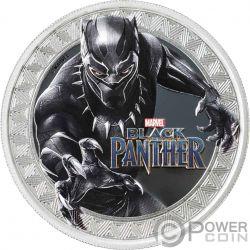 BLACK PANTHER Marvel 1 Oz Silber Münze 1$ Tuvalu 2018