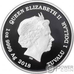 BLACK PANTHER Marvel 1 Oz Серебро Монета 1$ Тувалу 2018