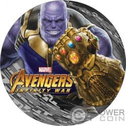 THANOS Avengers Infinity Wars Marvel 2 Oz Moneda Plata 2$ Fiji 2018