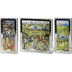 GARDEN OF EARTHLY DELIGHTS Premium Edition Bosco Set 3 Silver Coins 25 50€ Euro Spain 2016