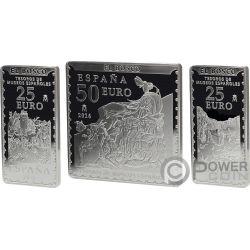 GARDEN OF EARTHLY DELIGHTS Premium Edition Bosco Set 3 Серебро Монеты 25 50€ Euro Испания 2016
