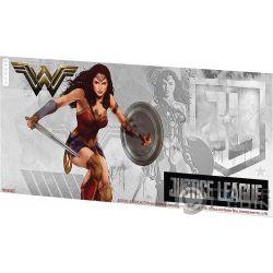 WONDER WOMAN Justice League Banconota Argento 1$ Niue 2018