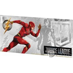 FLASH Justice League Foil Silver Note 1$ Niue 2018