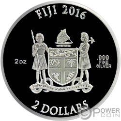 CAPTAIN AMERICA SHIELD 75 Anniversario Scudo Marvel 2 Oz Moneta Argento 2$ Fiji 2016