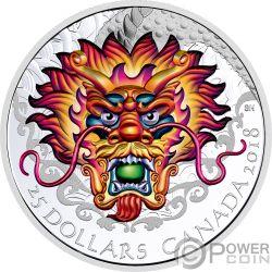DRAGON BOAT Drachen Rennen Silber Münze 25$ Canada 2018