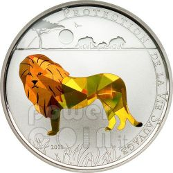 LION Wildlife Protection Moneda Plata Prism 1000 Francs Togo 2011