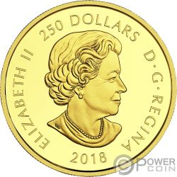 MAGNIFICENT MAPLE Gold Coin 250$ Canada 2018