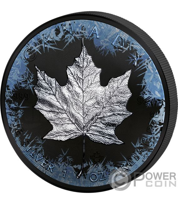 MAPLE LEAF 30th Anniversary Deep Frozen Edition 1 Oz Silver Coin 5$ Canada 2018
