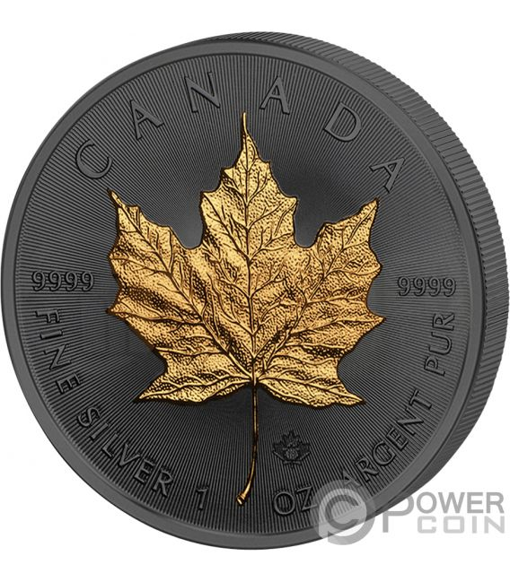 Maple Leaf 30th Anniversary Golden Enigma 1 Oz Silver Coin