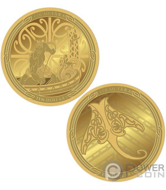 MAUI AND THE FISH Te Ika Maui Set 2 Gold Coins 10$ New Zealand 2018