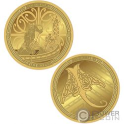 MAUI AND THE FISH Pescado Te Ika Maui Set 2 Monedas Oro 10$ New Zealand 2018