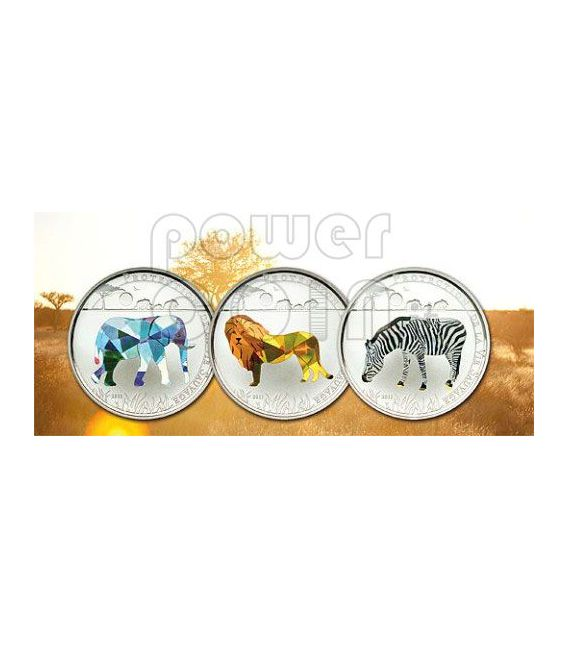 ZEBRA Wildlife Protection Moneda Plata Prism 1000 Francs Togo 2011