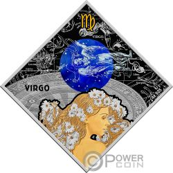 VIRGO Vergine Zodiac Signs Moneta Argento 100 Denars Macedonia 2018
