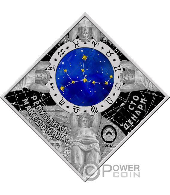 VIRGO Zodiac Signs Silver Coin 100 Denars Macedonia 2018