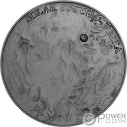 VESTA Meteorite Solar System 1 Oz Серебро Монета 1$ Ниуэ 2018