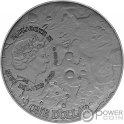 VESTA Meteorito Solar System 1 Oz Moneda Plata 1$ Niue 2018