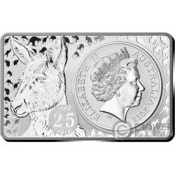KANGAROO 25th Anniversary 1 Oz Silver Coin 2 Oz Set 1$ Australia 2018