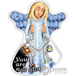 YOU ARE NOT ALONE No Estas Solo Angel Moneda Plata 500 Francos Cameroon 2018