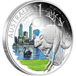 WESTERN CELEBRATE AUSTRALIA Perth 1 Oz Silver Proof Coin 1$ 2011