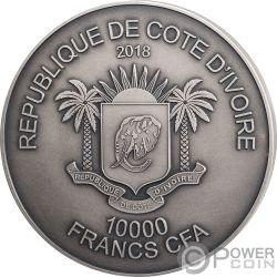 ELEPHANT Elefant Big Five 1 Kg Kilo Silber Münze 10000 Franken Ivory Coast 2018