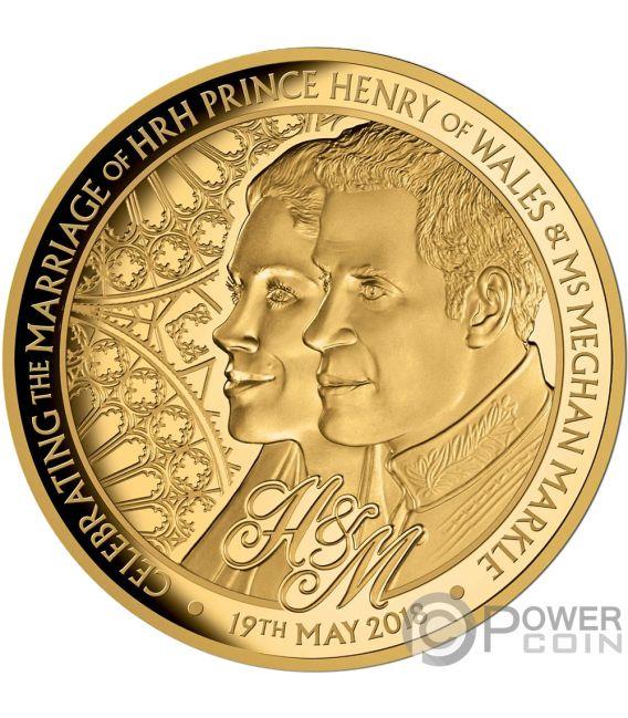 ROYAL WEDDING Harry Meghan 1 Oz Gold Coin 100$ Niue 2018