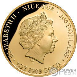 ROYAL WEDDING Königliche Hochzeit Harry Meghan 1 Oz Gold Münze 100$ Niue 2018
