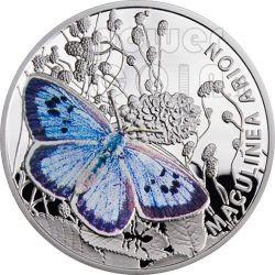 LARGE BLUE Farfalla Butterfly Moneta Argento 1$ Niue 2011