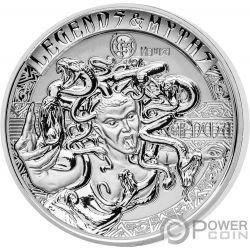 MEDUSA Second Legends And Myths 2 Oz Moneda Plata 5$ Solomon Islands 2018