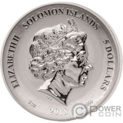 MEDUSA Second Legends And Myths 2 Oz Silber Münze 5$ Solomon Islands 2018