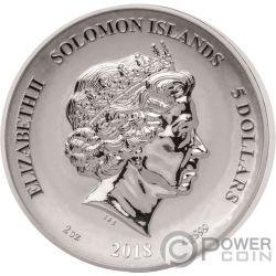 MINOTAUR Minotauros Second Legends And Myths 2 Oz Silber Münze 5$ Solomon Islands 2018