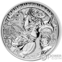 MINOTAUR Minotauro Second Legends And Myths 2 Oz Moneda Plata 5$ Solomon Islands 2018