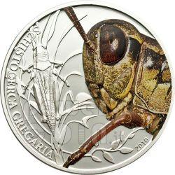 GRASSHOPPER World Of Insects Moneda Plata 2$ Palau 2010