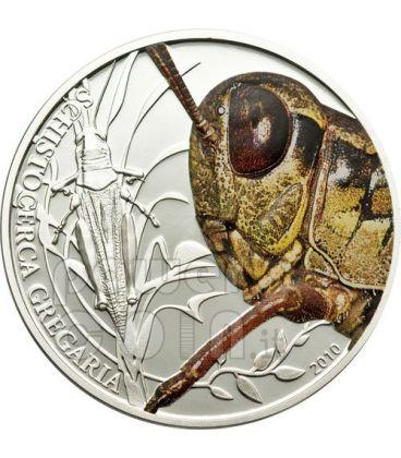 CAVALLETTA World Of Insects Moneta Argento 2$ Palau 2010