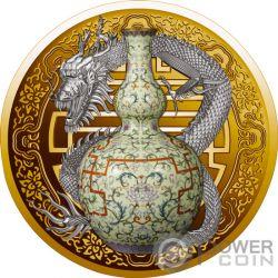 QIANLONG VASE World Most Expensive Porzellan Gold Münze 100$ Niue 2018