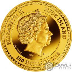 QIANLONG VASE World Most Expensive Porcelain Gold Coin 100$ Niue 2018