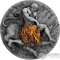 NEMEAN LION Nemeischer Löwe Herkules Twelve Labours of Hercules 2 Oz Silber Münze 5$ Niue 2018