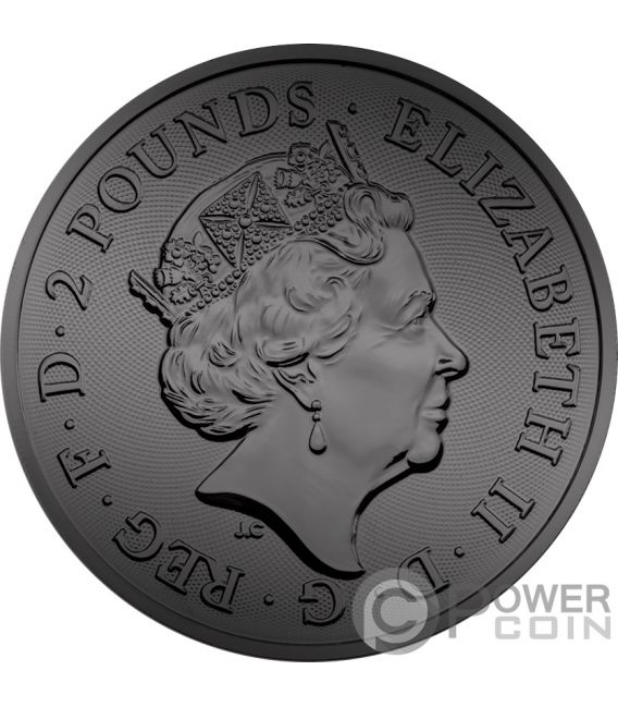 BURNING TWO DRAGONS 1 Oz Silver Coin 2£ United Kingdom 2018