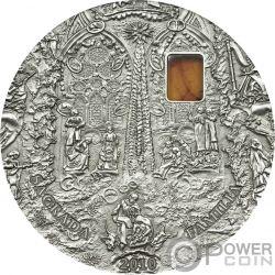 SAGRADA FAMILIA Mineral Art Amber 2 Oz Silber Münze 10$ Palau 2010