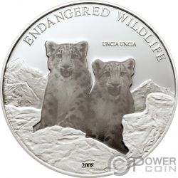 UNCIA UNCIA Snow Leopard Серебро Монета 500 Тугриков Монголия 2008
