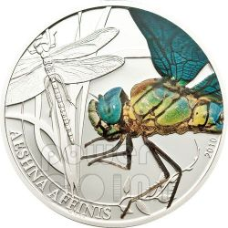 DRAGONFLY World Of Insects Silver Coin 2$ Palau 2010