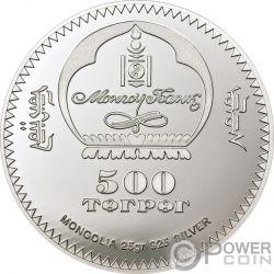 UNCIA UNCIA Schneeleopard Endengered Wildlife Silber Münze 500 Togrog Mongolia 2008